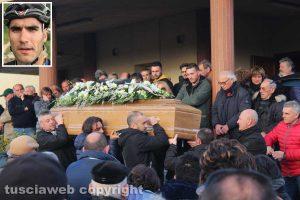 I funerali di Andrea Manca a Tuscania