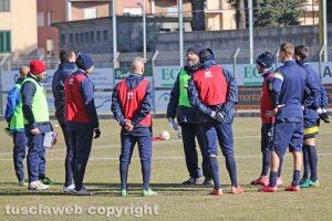 Sport - Calcio - Viterbese - L'allenamento di ieri al Rocchi