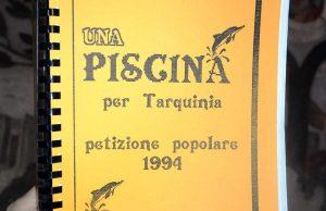 Tarquinia - La petizione sulla piscina del 1994