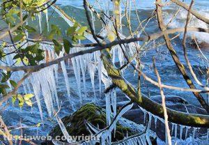 Il lago di Bolsena ghiacciato - Capodimonte