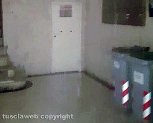 Viterbo - Via della Sapienza - Scoppia tubo e si allaga palazzo