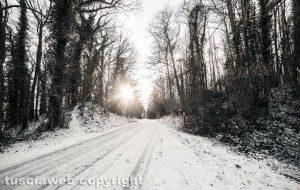 Neve sui Cimini - Sole caldo sul gelo di Poggio Nibbio...