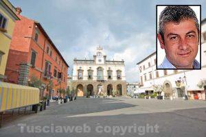 Nepi - Nel riquadro il sindaco Pietro Soldatelli