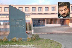 Il tribunale di Viterbo - Nel riquadro l'avvocato Antonio Rizzello