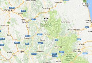 Centro Italia - Scossa di magnitudo 3,3 con epicentro a Visso