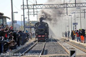 "Capranica - Sutri - E' arrivata la ""Signorina"", la locomotiva d'epoca a vapore"
