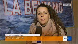 Viterbo - Acqua da salvare - Chiara Frontini (Viterbo 2020) ai microfoni della Rai