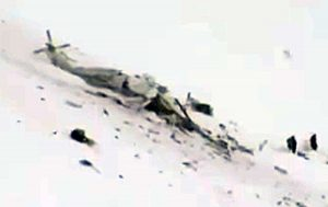 L'elicottero precipitato a Campo Felice