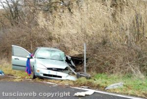 Montefiascone - L'incidente sulla Cassia nord