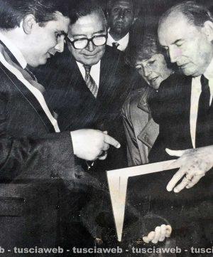 Viterbo - Come eravamo 1991 -Giuseppe Fioroni, Giulio Andreotti e François Mitterrand