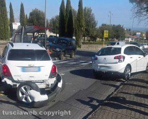 Montefiascone - Incidente sulla Cassia nord