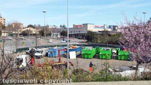 Viterbo - Il centro di raccolta rifiuti al Riello