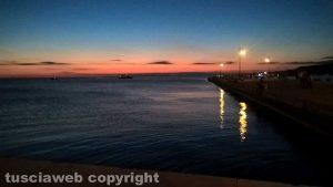 Tramonto al porto di Trieste