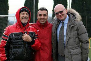Sport - Calcio - Monterosi - Da sinistra: Capponi, Matuzalem e Conte