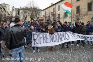 Migranti - Il sit-in a San Martino al Cimino