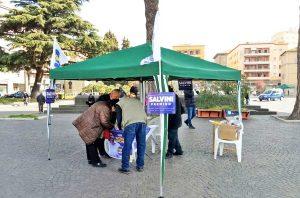 Viterbo - Noi con Salvini - Il gazebo al Sacrario