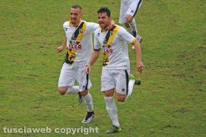 Sport - Calcio - Viterbese - Mickael Varutti e Mirko Miceli