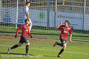 Sport - Calcio - Viterbese - Nicola Pozzi esulta, il Pro Piacenza espugna il Rocchi