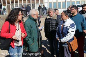 Viterbo - Migranti - La visita al campo all'ex Fiera