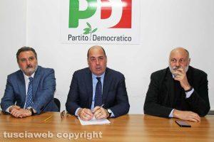 Enrico Panunzi, Nicola Zingaretti e Riccardo Valentini