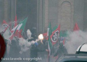 Vallerano - La manifestazione di Casapound