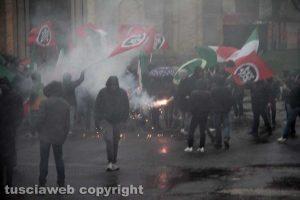 Vallerano - La manifestazione di Casapound contro la violenza
