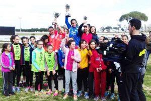 Sport - Atletica leggera - La rappresentativa Ragazze di Viterbo sul podio