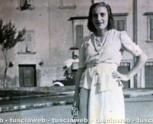 Maria Salcini in via Ascenzi nel 1942