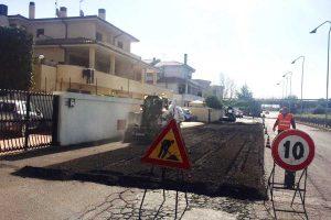 Montalto di Castro - I lavori in via Adriatica