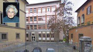 Il liceo scientifico Ruffini e nel riquadro la professoressa Cannarella