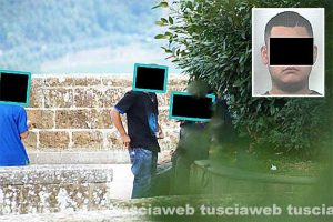 Montefiascone - Operazione Albornoz - Nel riquadro l'arrestato B.G.