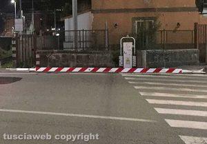 Viterbo - Piazzale Gramsci - Caduta barra del passaggio a livello