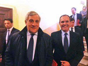 Antonio Tajani e Sergio Caci