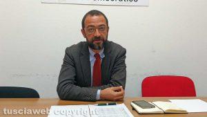 Viterbo - Il segretario del Pd Andrea Egidi