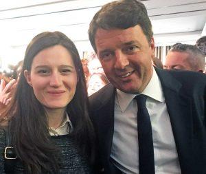 Giorgia Gasbarri e Matteo Renzi a Bruxelles