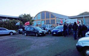 Bagnoregio - La protesta dei lavoratori Alta