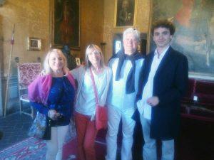 Vignanello - Chris e Sally Hook, Mariella Focehtti e il principe Teodoro Ruspoli