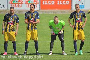 Sport - Calcio - Viterbese - Da sinistra: Falcone, Doninelli, Iannarilli e Varutti