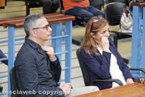 Tribunale - Il presidente dell'ordine degli avvocati Luigi Sini e l'avvocata Claudia Polacchi