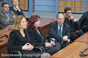 Tribunale - La presidente Maria Rosaria Covelli, il giudice Rita Cialoni e il procuratore capo Paolo Auriemma
