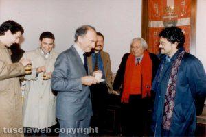 Viterbo - Piero Ottone con Marcello Veneziani, Giulio Marini e Marcello Meroi