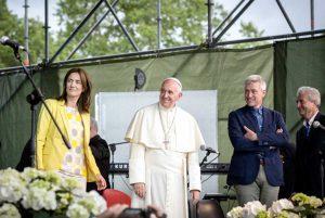 """Roma - Papa Francesco in visita al """"Villaggio per la Terra"""" edizione 2016"""