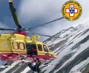 Abruzzo - L'intervento di recupero del Soccorso alpino