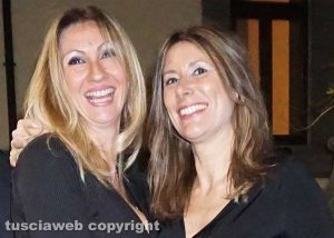 Gran gala di Caffeina - Amanda Bonini, compagna di Pino Daniele, con la sua inseparabile amica Francesca Filippi