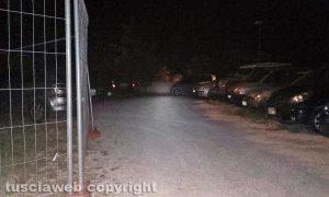 Capranica - Il parcheggio al buio