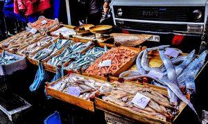 Mercato del pesce - Un bancone