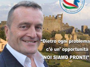 L'immagine di Moscherini con alle spalle Tuscania