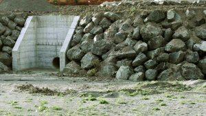 Tarquinia - Lavori della centrale idroelettrica vicino al fiume Marta