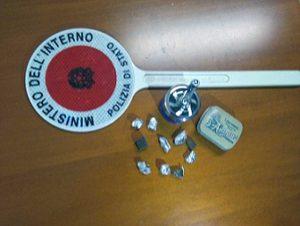 Tarquinia - La droga sequestrata dalla polizia