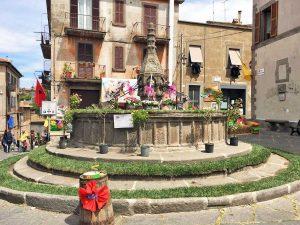 Viterbo - La via dei fiori a Pianoscarano